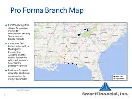 Panhandle Florida Map by Smartfinancial Ambk Acquires Capstone Bancshares Slideshow