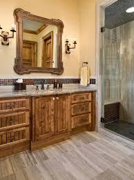 rustic bathroom cabinets houzz