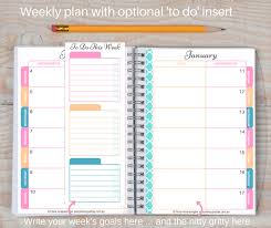 printable weekly and monthly planner 2015 letter size 2017 printable weekly planner 2 styles goal planner
