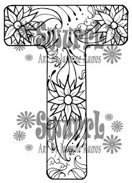 items similar to instant download coloring page monogram letter