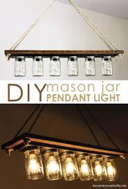 Diy Light Fixtures Every Dining Room Needs One Of These Diy Rustic Mason Jar Light