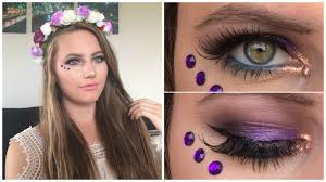 Unicorn Makeup Halloween by Halloween Makeup Pretty Purple Fairy Makeup Youtube