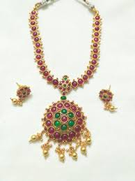 stone necklace set designs images Simple and cute looking designer stone necklace set vasthra jewels jpg