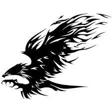 cool tribal hawk tattoo design