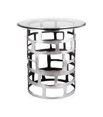 side accent tables metal cut out side accent table