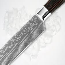 highest quality kitchen knives xyj brand kitchen knife santoku stainless steel damascus flowing