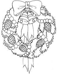 kids u0027 korner free coloring pages christmas wreath