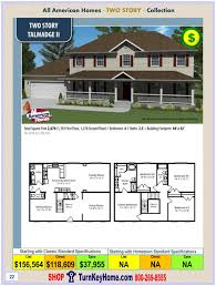 Home Building Plans And Prices by Talmadge Ii All American Modular Home Two Story Collection Plan Price