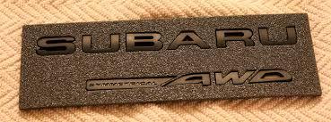subaru matte black amazon com subaru wrx matte black rear badge bundle save