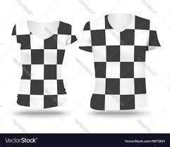 Checkered Flag Eps Checkered Flag Shirt Design Royalty Free Vector Image