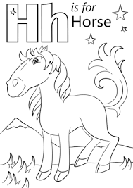 coloring pages with letter h letter h horse coloring page coloring for beatiful coloring pages