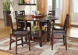 Dark Dining Room Table Landon Chocolate 7 Pc Counter Height Dining Set Dining Room Sets