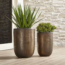 small planter metallic bronze small planter crate and barrel planters crates