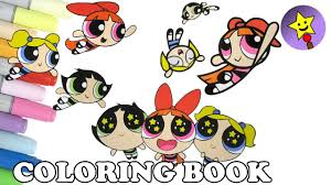 powerpuff girls coloring book pages compilation 9 buttercup