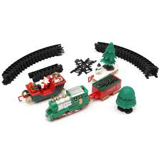christmas musical light tracks train set 20 piece with trees