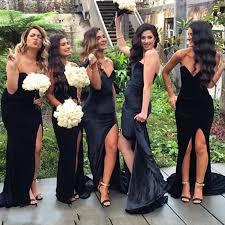 black bridesmaid dresses aliexpress buy black mermaid bridesmaid dress