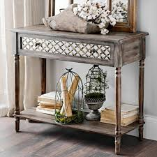 Table For Entryway Distressed Blue Console Table Deltaqueenbook