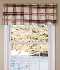 homestead plaid tailored valance curtain 80 inch by 13 inch apple