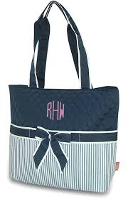 personalized quilted bag pinstripe