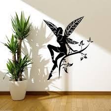 wild flower fairy plant tree wings wall stickers decals murals wild flower fairy plant tree wings wall stickers decals murals transfers vinyl