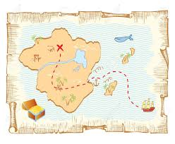 World Treasure Map by Treasure Map Vector Old Paper Background Royalty Free Cliparts