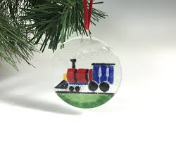 ornament fused glass by richmondglassworks on etsy https