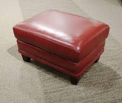 waycross chili red leather ottoman objectif 2017