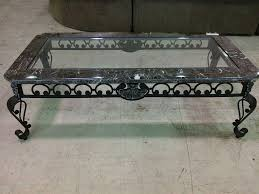 wrought iron coffee table with glass top showing photos of iron glass coffee table view 19 of 20 photos