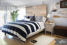 coastal themed bedroom before after rustic nautical master bedroom makeover the