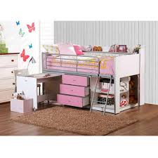 bunk beds for girls with desk fun ideas girls twin loft bed decor thedigitalhandshake furniture