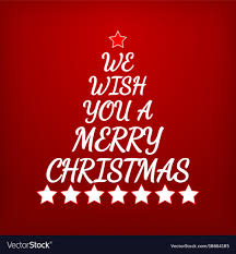 images of christmas letters we wish you a merry christmas letters and stars vector image