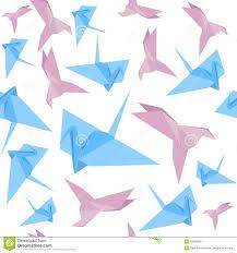 origami paper crane background pattern vector stock vector