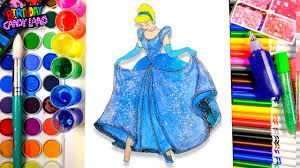learn color kids color cinderella disney princess