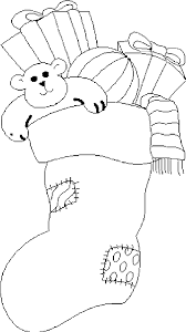 christmas stocking coloring pages print archives free free
