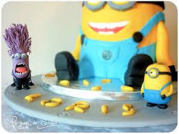 gateau anniversaire animaux gâteau minion au pays de candice