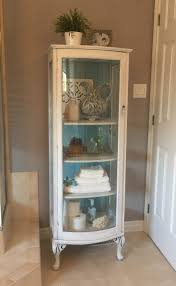 Diy Corner Hutch Curio Cabinet Inside Of Curio Chalk Paintedt Start At Home Decor