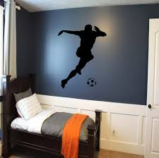 soccer player wall decal soccer wall decor sports decal zoom