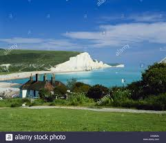 Coast Cottages by Coastguard Cottages And Seven Sisters Coastline East Sussex From