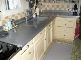 plan de travail cuisine en zinc plan de travail en zinc exemples de réalisations en photo