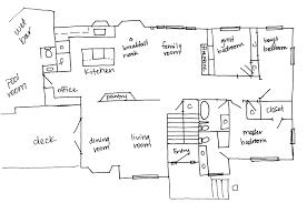 floor plans to scale hand drawn upper level floor plan