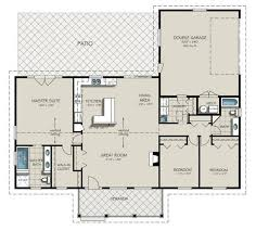 amazing great room house plans one story home design javiwj