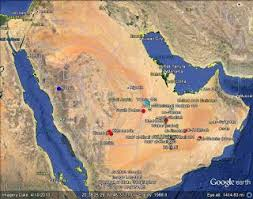 rub al khali map figure 1 index map showing the location of the wabar meteorite