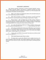 settlement agreement marital settlement agreement template