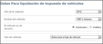 liquidacion de impuesto vehicular funza impuestos vehículos bogota impuestos vehiculos bogota 2011 pago