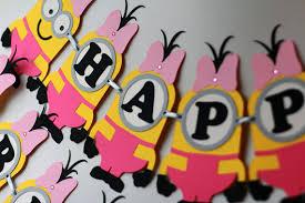Minion Birthday Decorations Minion Birthday Banner Minions Party Supplies
