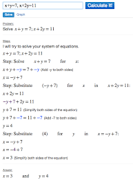 solving systems of equations using algebra calculator mathpapa