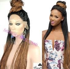 box braids hairstyle human hair or synthtic box braided lace wig micro braid lace wig sassy secret