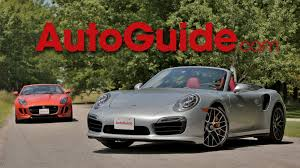 porsche 911 v8 2014 porsche 911 turbo s cabriolet vs 2014 jaguar f type v8 s