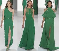 elie saab green bridesmaids dresses emerald wedding colors
