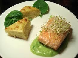 cuisine pav de saumon pavé de saumon grillé et émulsion de petit pois au wasabi cookée
